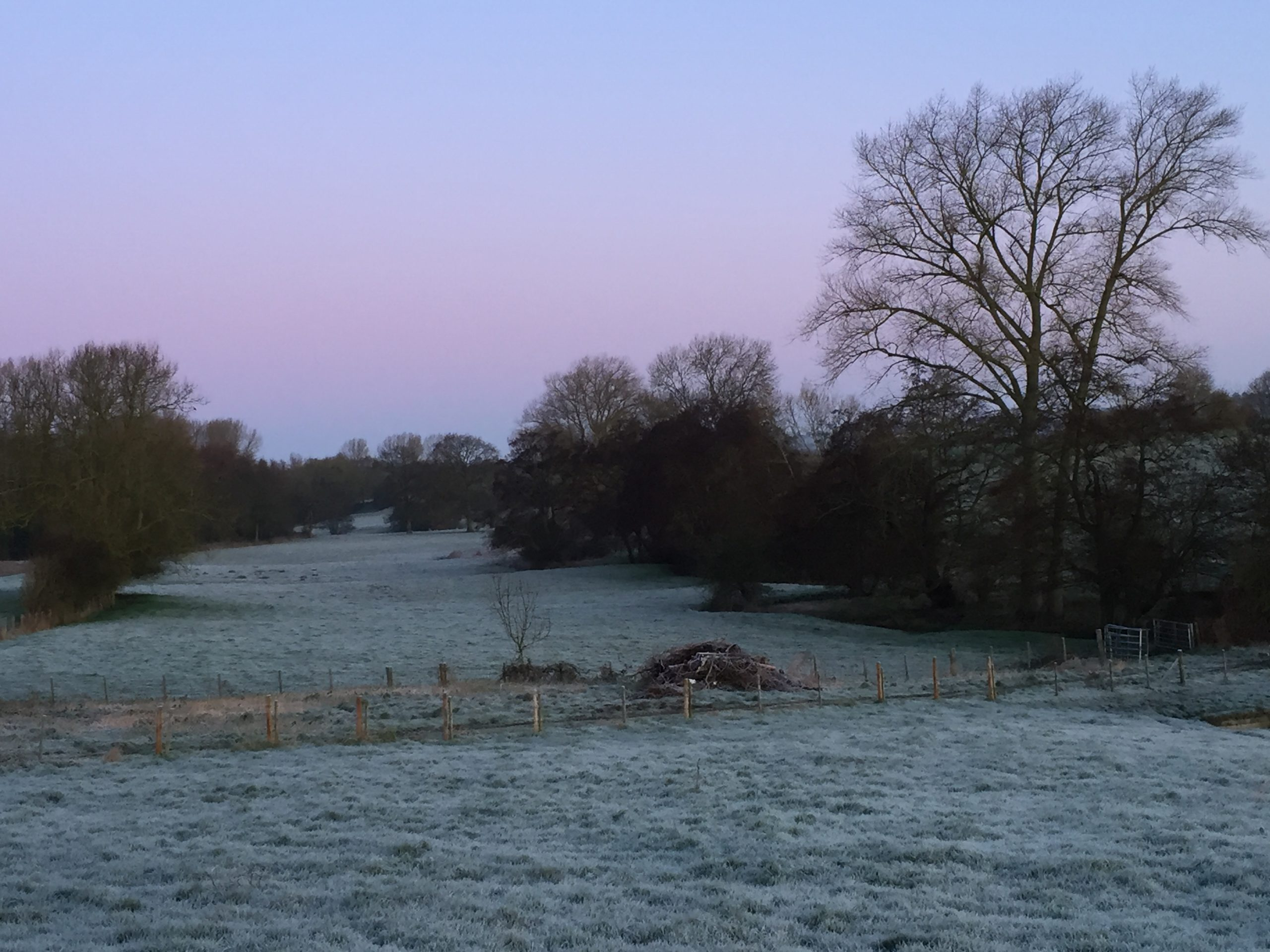 A frosty morning in the Great Stour Valley