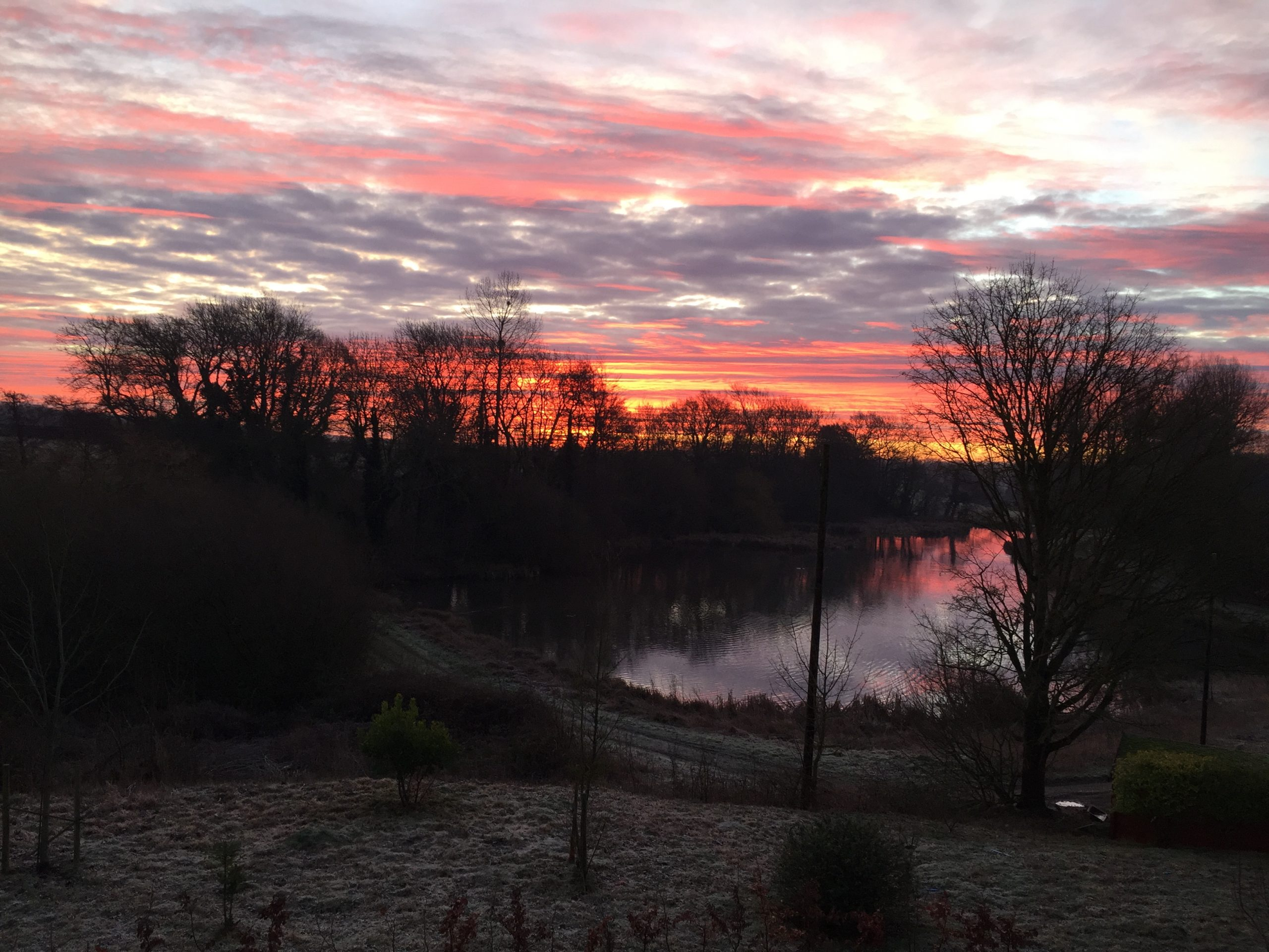 Sunrise over Bowley Mill pond